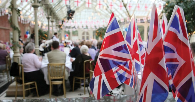 St. Georges Day Celebrations in the Orangery