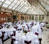 Wedding set-up in The Orangery