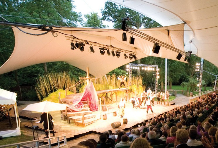 Enjoy amazing shows at our magnificent open-air theatre
